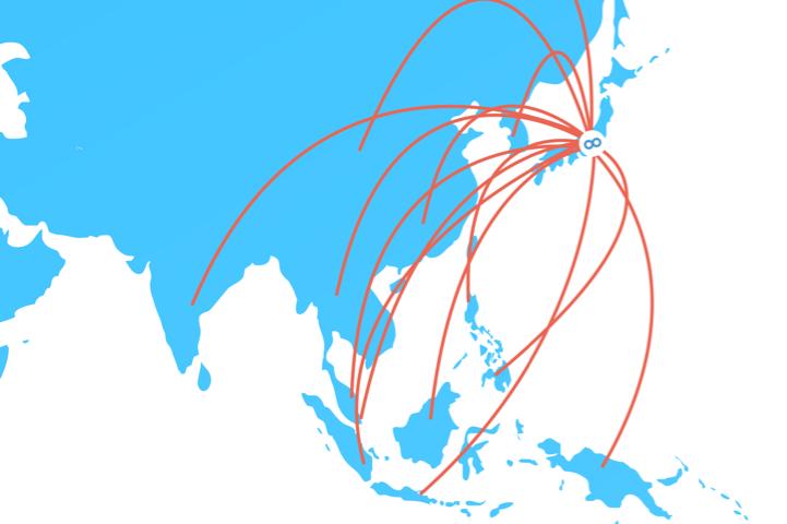 map - Sansan株式会社、総額約42億円の資金調達を実施 〜名刺アプリ「Eight」を アジアNo.1のビジネスプラットフォームへ〜