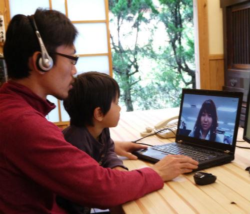 """20130116123258 - サテライトオフィス『Sansan神山ラボ』に新しいワークスペースを開設しました~""""通勤10秒、都会と田舎の良いとこどり""""サテライトオフィスで家族と一緒に田舎暮らし~"""