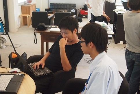 P8226346 - 徳島県中高生Rubyプログラミング合宿に、エンジニアの宍倉がメンターとして参加しました。